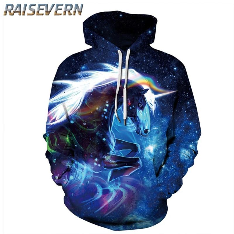03a3cd64cfed RAISEVERN Autumn Women Men Sweatshirt Unicorn 3D Printed Cartoon Hoodies  Pullovers Galaxy Space Horse Hoodie Sweatshirts 2019-in Hoodies    Sweatshirts from ...