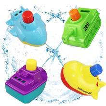 4 шт Мини красочная модель лодки, плавающие для ванны, интерактивные игрушки для малышей