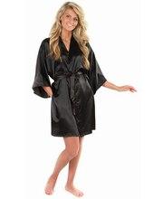 新しい黒中国女性のフェイクシルクローブ風呂ガウン熱い販売着物浴衣バスローブ無地パジャマsml xxl nb032 xl