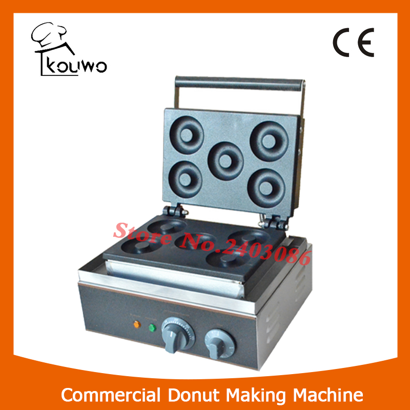 KW-X5A Energy Saving Quickly Heat Up Non-sticky  Electric donut making machine with 5 holes for snack equipment j52b diy technology model making solar energy dc motor electric fan hand making teaching students use sale at a loss brazil
