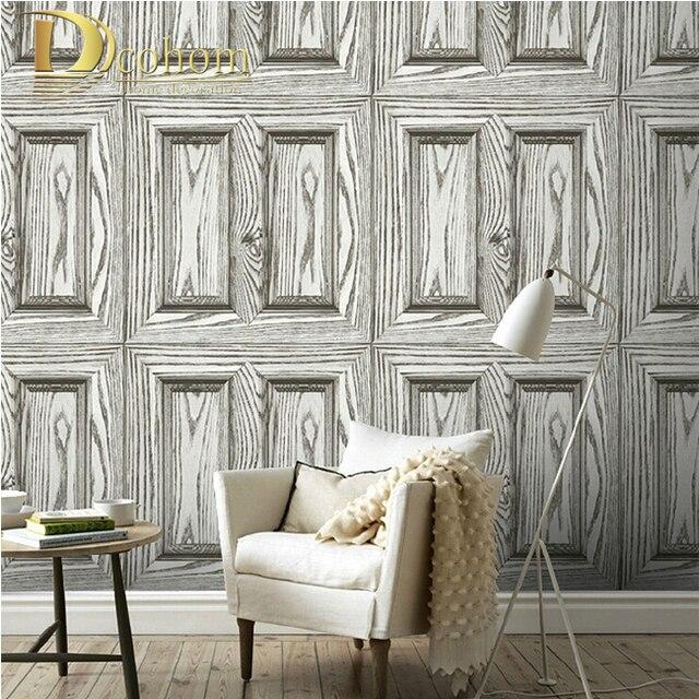 Aliexpresscom Buy Waterproof PVC Vintage Wood Door 3D Wallpaper