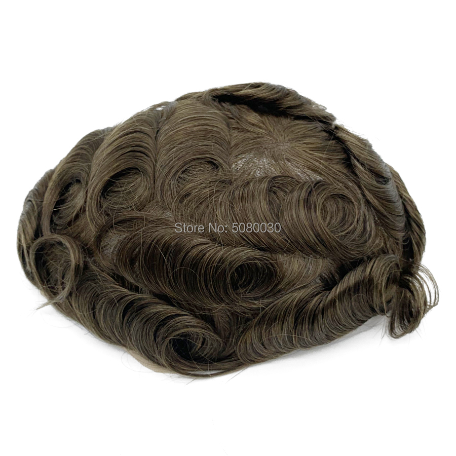 Custom Made Lace Wigs For Men Hair Pieces For Men Full Swiss Lace Base Natural Density