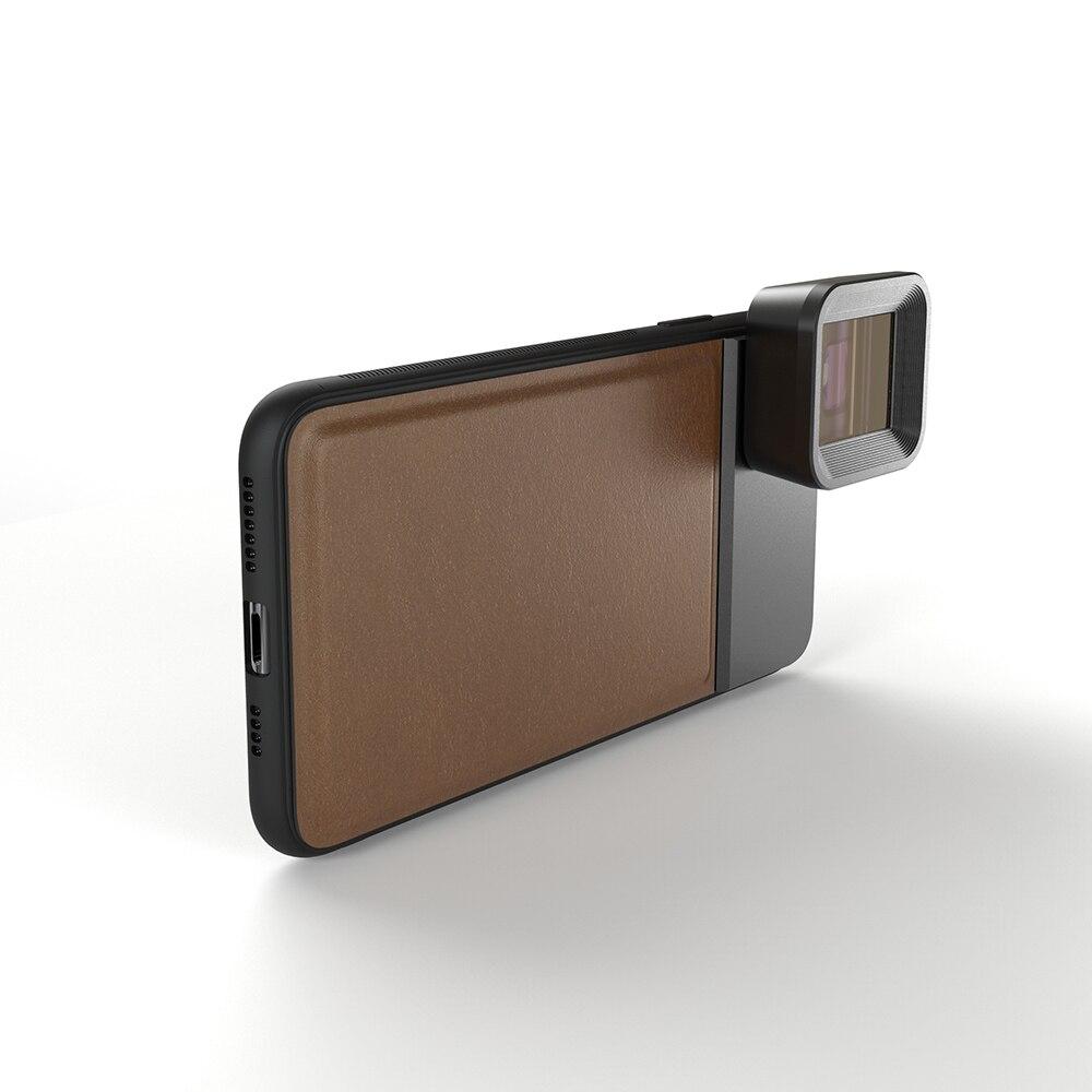 Moveski pran 1.33x lente anamorphic câmera do telefone celular grande scree lente filme telefone óptico lente para iphone android smartphone - 3