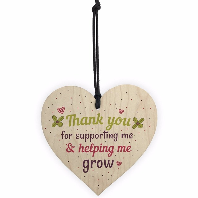 Meijiafei Gifts For Women Thank You Teacher Leaving Gift Her Nursery Wooden Heart Plaque Childminder