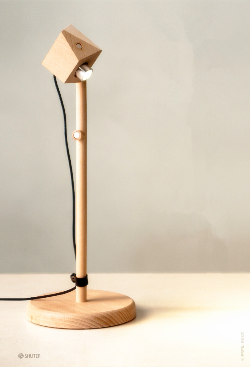 Magic magnet novel wooden table lamp 400mm modern for Lamp wooden
