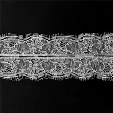 3Meters Embroidered Eyelash Lace Ribbon Black White Wedding Dress Trim Sewing Width/9cm Clothing Accessories lace material