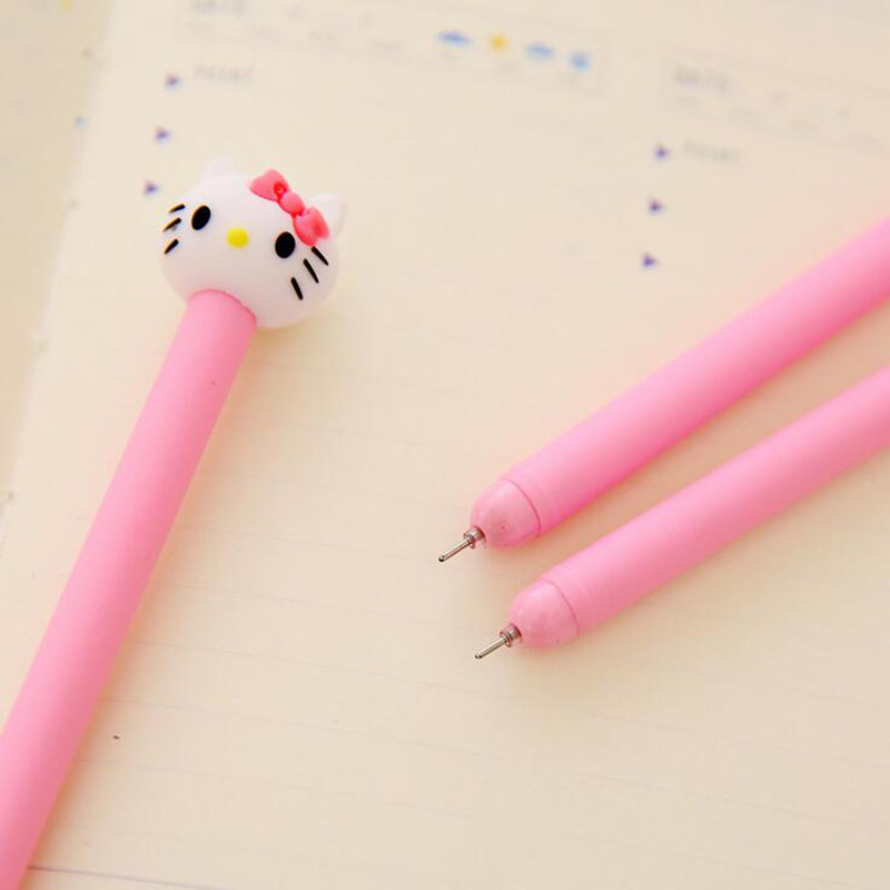 4X Kawaii Hello Kitty Pink Princess Gel Pen Writing Signing Student Kids Girl Stationery ...