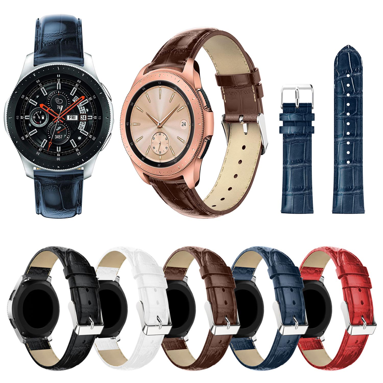 Crocodile Genuine Leather Band For Samsung Galaxy Watch 42mm 46mm Smart Watchband Wrist Bracelet Belt Strap
