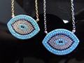 silver gold jewelry,2017 new arrive silver evil eye pendant micro pave turquoise 925 sterling silver chain necklace