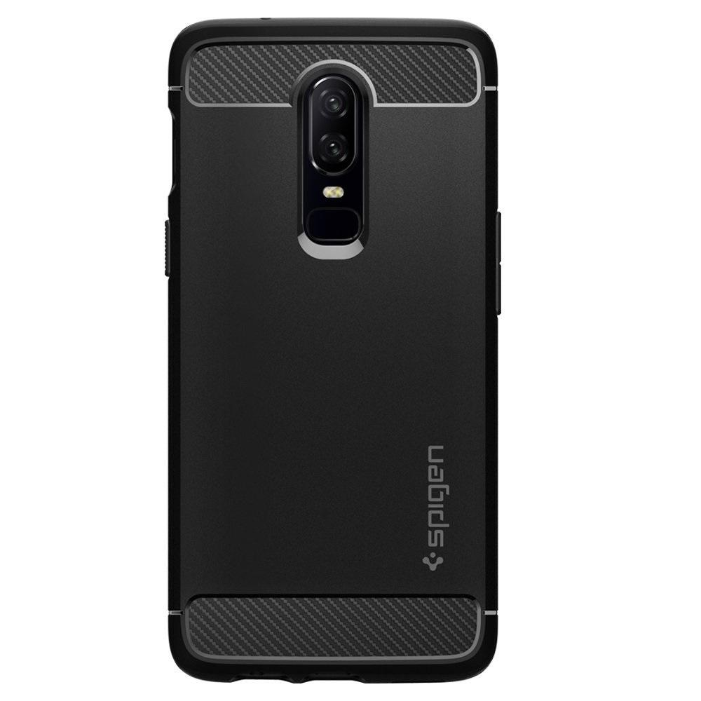 more photos 24fe6 cccb6 US $16.99 |100% Original SPIGEN OnePlus 6 Case Rugged Armor Black  K06CS23358-in Fitted Cases from Cellphones & Telecommunications on  Aliexpress.com | ...