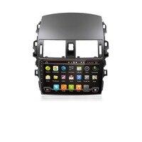 2 din android автомобильный dvd плеер для toyota corolla 2009 автомобиль радио gps с руль навигационная система