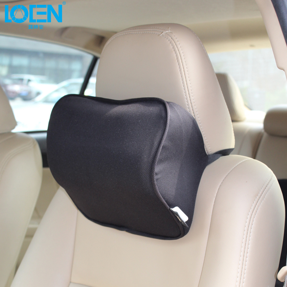 Car elastic cloth cover neck headrest super soft memory foam auto seat cover head neck rest