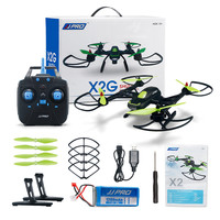 JJPRO X2 2.4GHz 4CH 6 Axis Quadcopter Drone UAV Through The Entry leve With LEDwith Brushless Motor RTF Version Black Helicopter