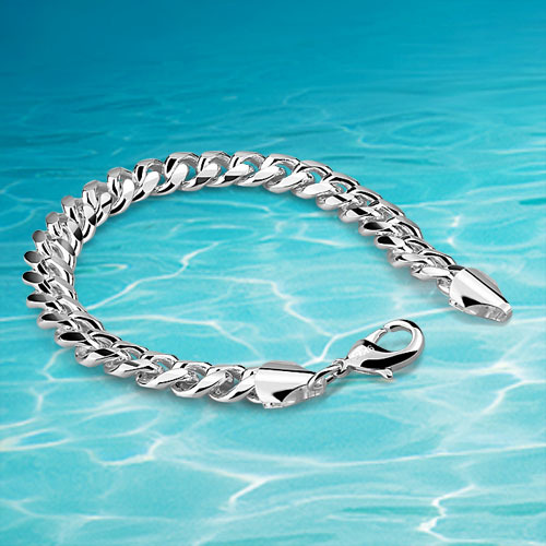 Men Silver Bracelet Real Accessories 925 Sterling Jewelry