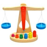 2017 Più Nuovo Balance Scale di Legno Early Learning Peso Bambino Bambini Intelligenza Giocattoli Brinquedos Educativos Prezzo Più Basso