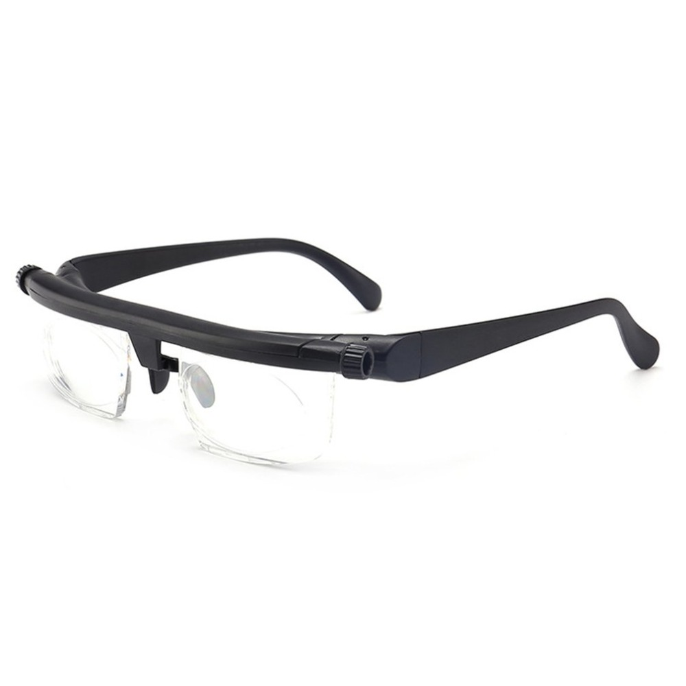 4271184a1db Adjustable Glasses Non Prescription Lenses for Nearsighted Farsighted  Computer Reading Driving Unisex Variable Focus Glasses-in Magnifiers from  Tools on ...