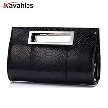 2017 Women PU alligator Leather handbag famous brand lady party evening day clutches tote bag shoulder
