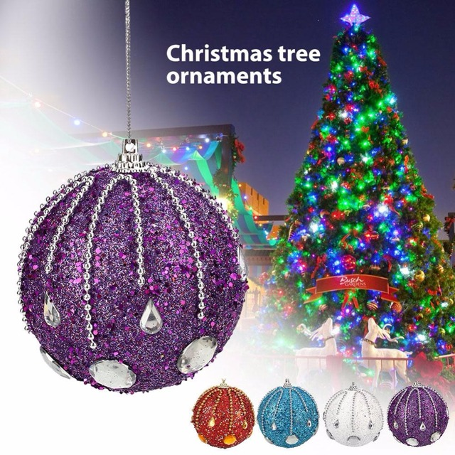 christmas decorations for home hanging christmas tree foam glitter ball baubles xmas ornaments pendant new year