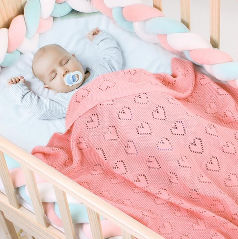 Knitted Baby Blankets Newborn Summer Baby Swaddle Wrap Blanket Super Soft  Infant Baby Crib Bedding Stroller Receiving Blanket
