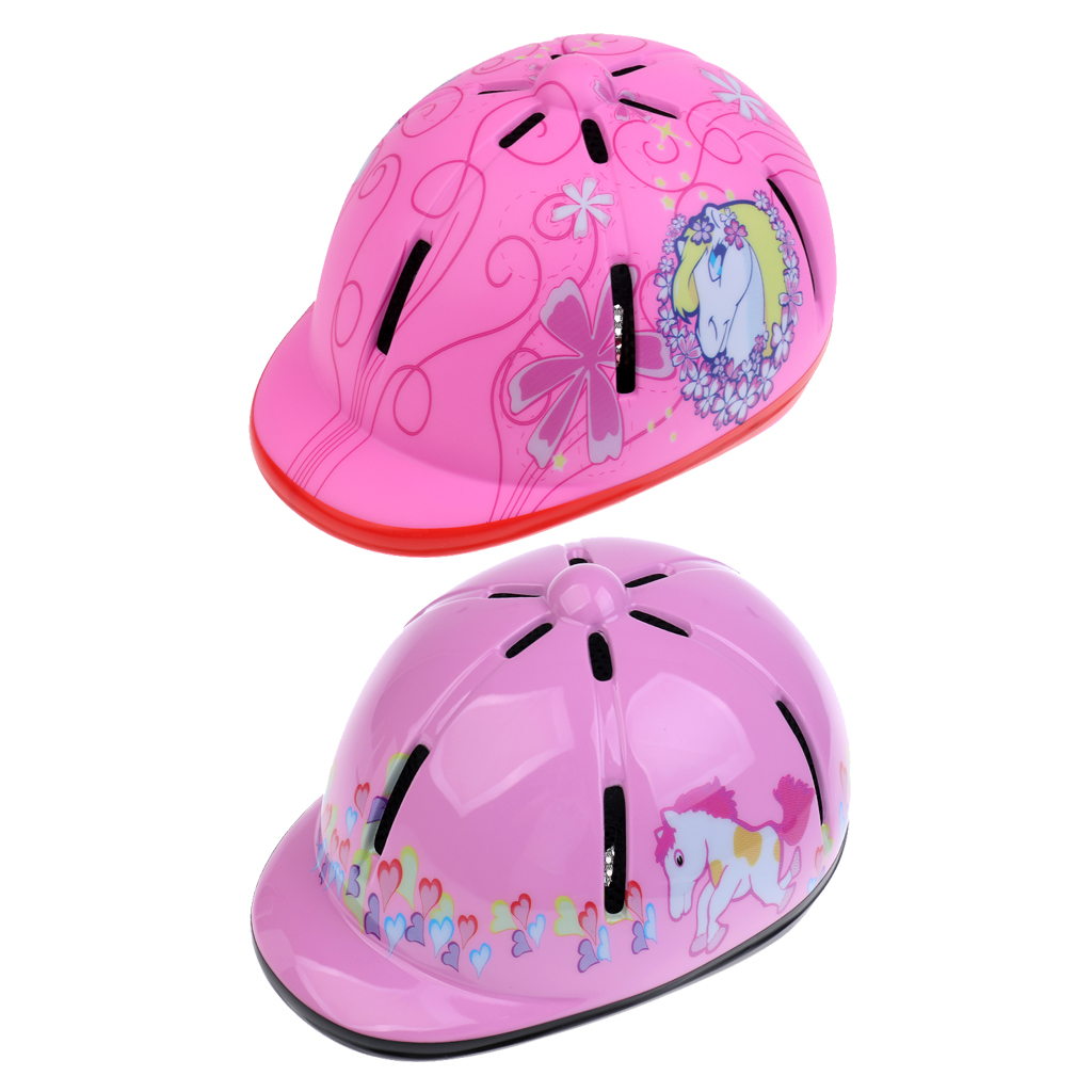 2Pcs Kids/Toddlers Adjustable Horse Riding Hat/ 48-54cm Pink