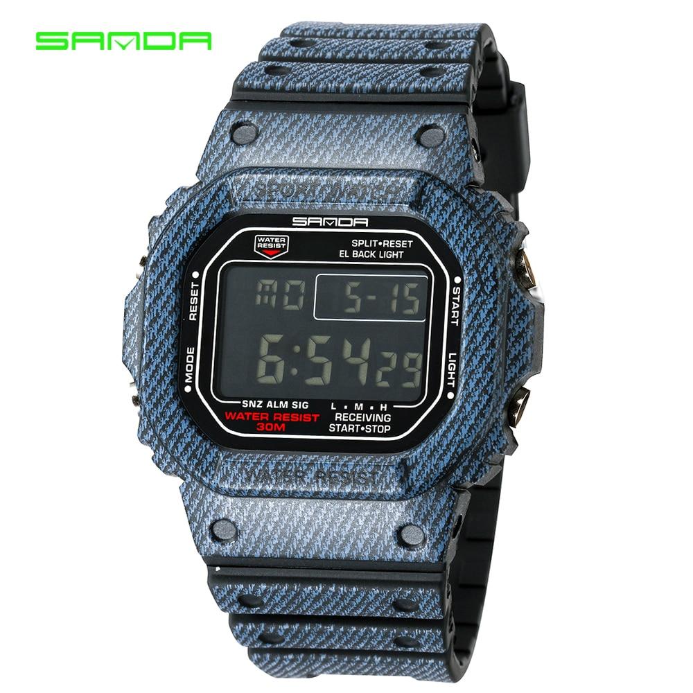 SANDA fashion G style shock watch mens digital sports watch LED waterproof mens watch Relogio Masculino