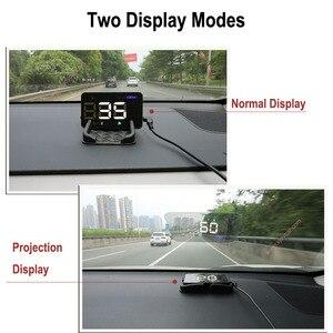 Image 2 - Universal Car HUD GPS Tachimetro Speedo Head Up Display A5 Digitale Su Allarme di Velocità Parabrezza Projetor Auto di Navigazione