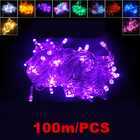 Waterproof 100 m LED Flashing Christmas string lights Party Wedding patio string lights for Garden Decoration