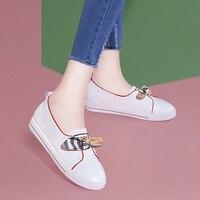 MYCORON/Женская обувь на плоской подошве, новая модная Роскошная модная повседневная обувь на плоской подошве в сдержанном стиле, удобные женс