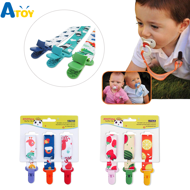 3 Pcs/Set Baby Pacifier Clips Pacifier Chain Dummy Clip Nipple Holder For Nipples Children Pacifier Clip Soother Holder Attache