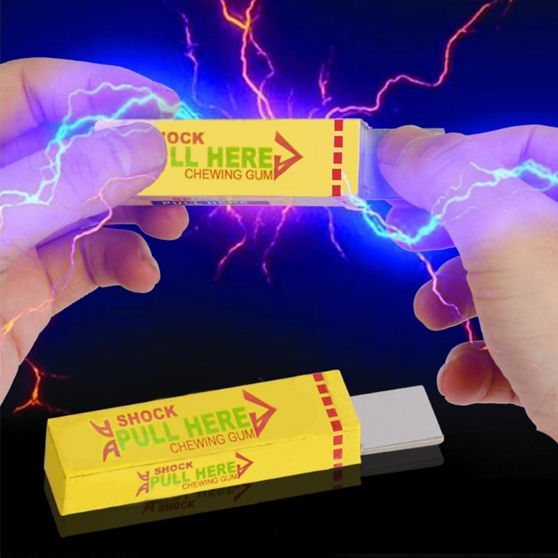Игрушки-приколы статическое электричество Детская безопасность трюк шутка игрушка электрическим током Шокирующая Жевательная резинка тянуть