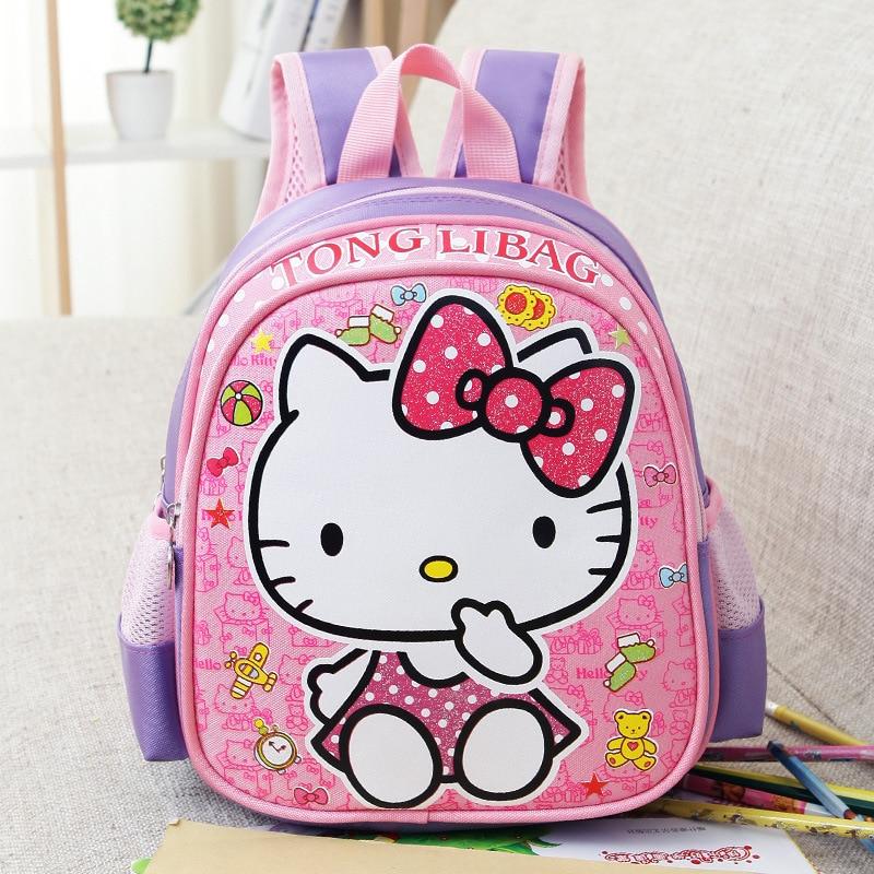 Cute Children Cartoon Backpack Hello Kitty Kids School Bag Student Backpack Girls Boys Kindergarten Beautiful Schoolbag 5 Colors