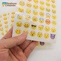 1 Лист Смайлики Наклейки Пакет, содержащий 48 Emojis Высечки Смайлики Символы Символы Улыбающиеся лица выражение Стены Стикеры