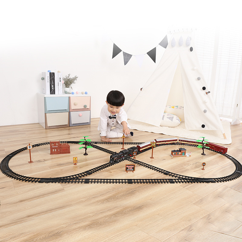 Electric Train Toys Classic Motorized Train Set Electric Locomotive Model Train With Engine