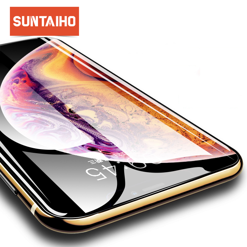 Suntaiho 5D Full Cover Edge Tempered Glass For iPhone X XS Screen Protector For iPhone XS MAX  XR Film Protection Glass