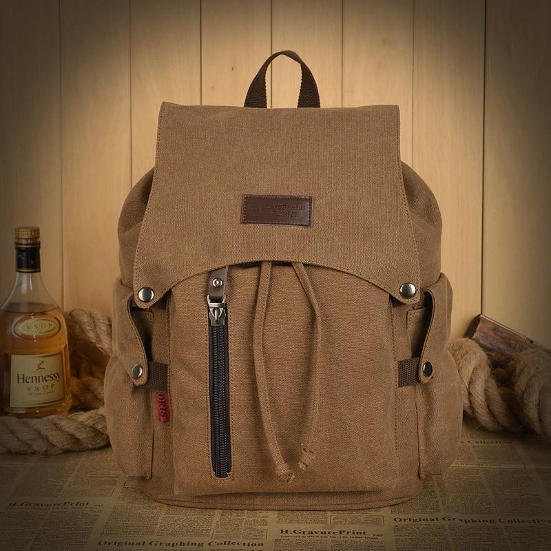 Men s Backpacks Women Canvas Casual Backpack Men Shoulder Bags Schoolbags for Boy Rucksack Student School