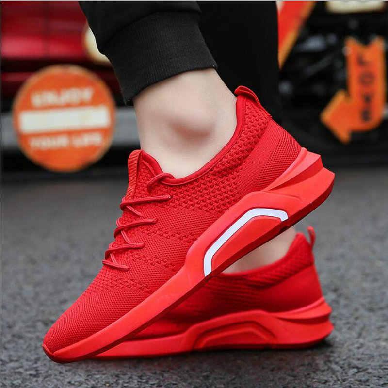 b415914a045f Модный бренд 2018 мужской Открытый легкий дышащий материал сетки кроссовки  обувь для ходьбы Красные, Черные