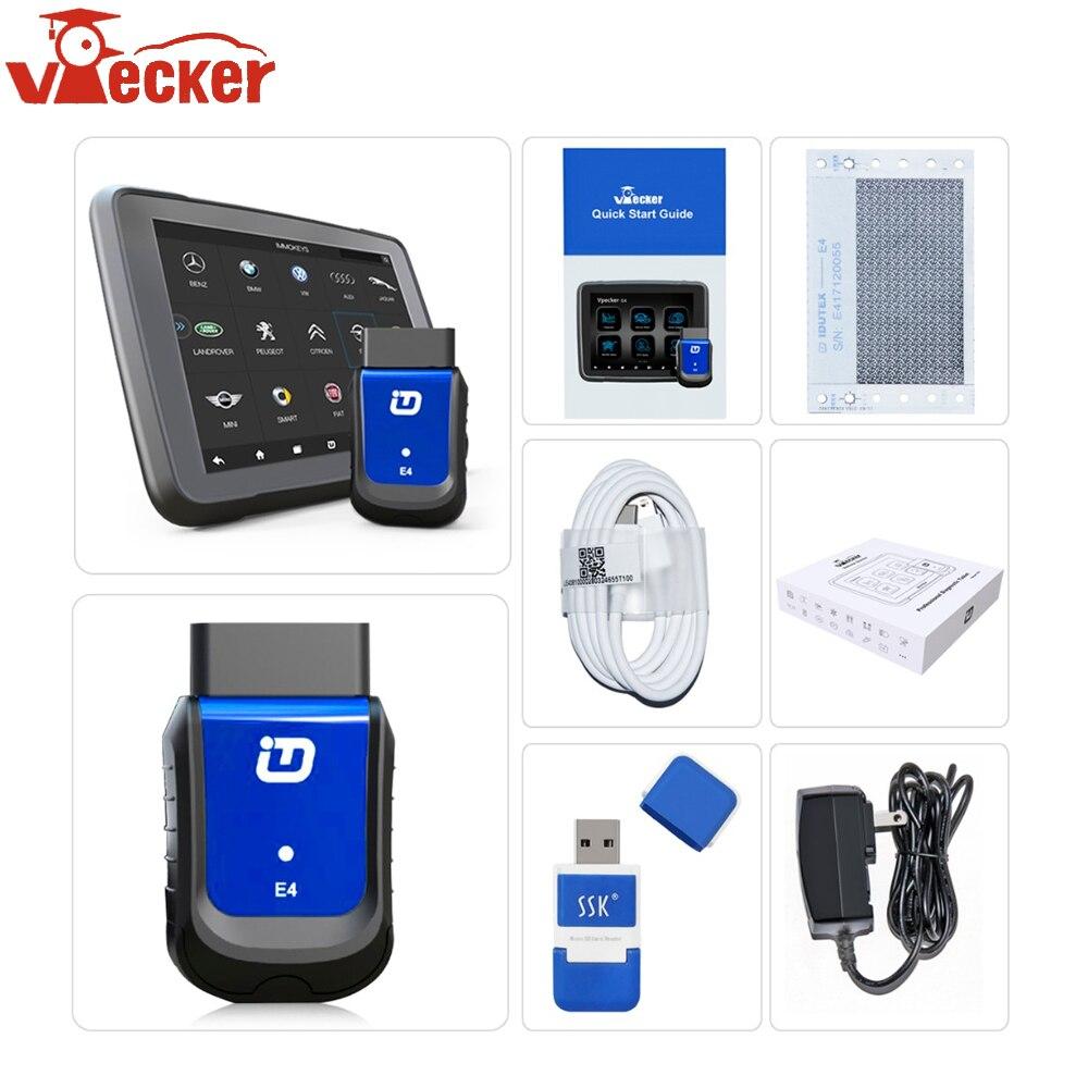 VPECKER E4 Bluetooth OBD 2 Scanner Automotive Con Finestre Tablet Auto Strumento di Diagnostica per Android Sistema Completo Strumento di Diagnostica