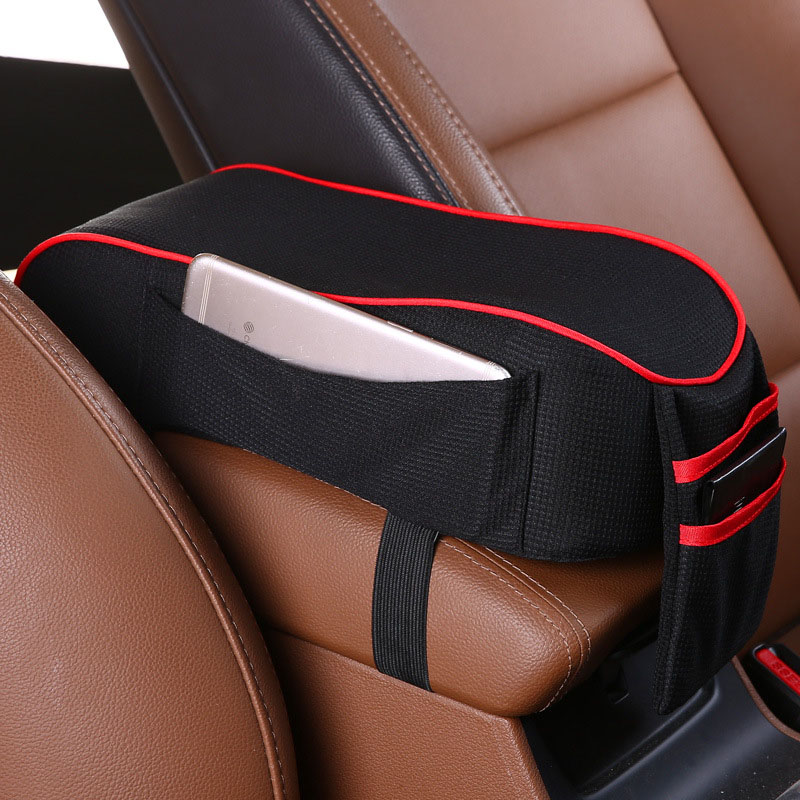 Image 3 - Universal Car Armrest Cushion Pad Auto Vehicle SUV Center Console Memory Foam Rest Pillow Armrest Support Soft Pad Cushion Mat-in Armrests from Automobiles & Motorcycles