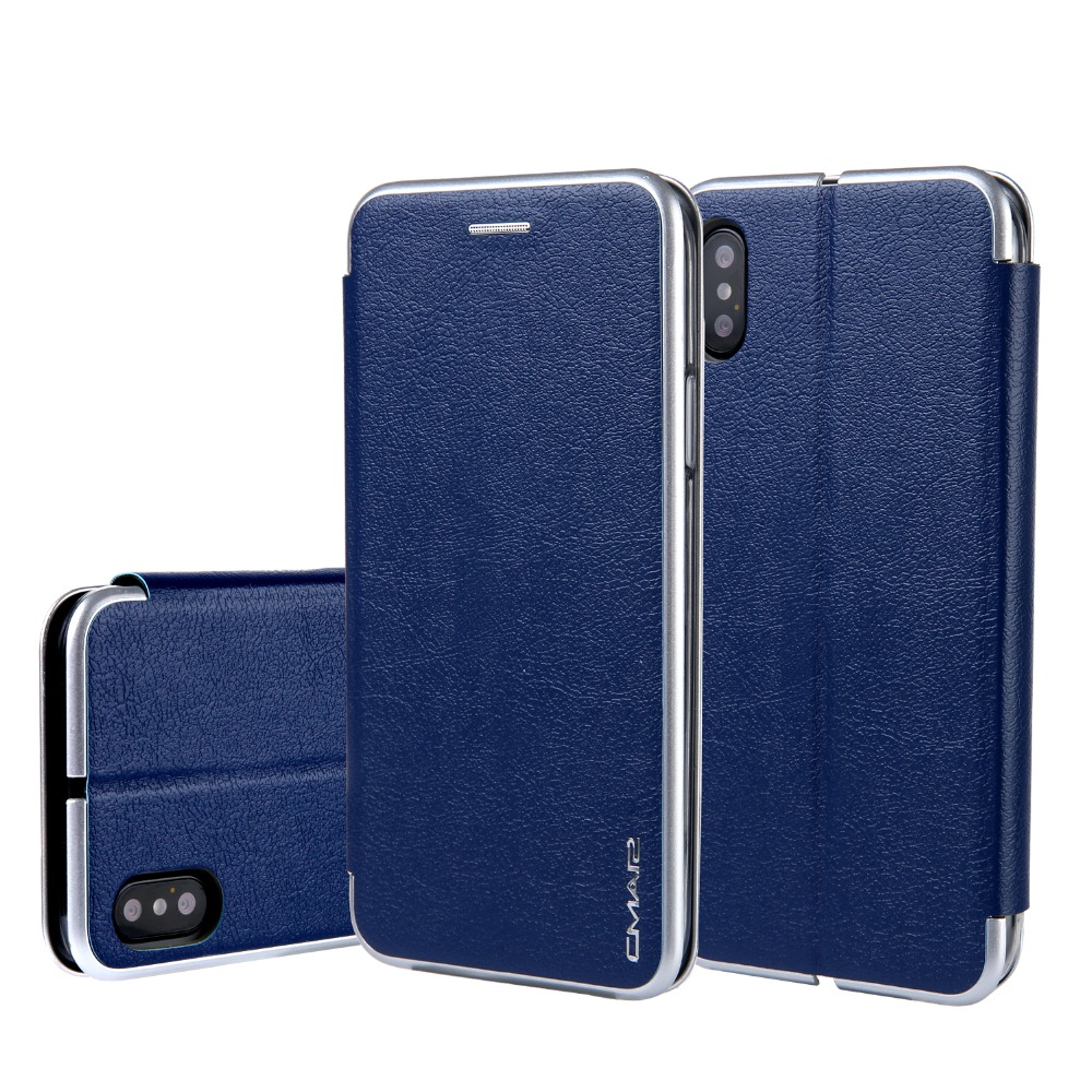 Business Leather Case For iPhone6s 7 8 Plus Leather Flip Case Wallet For Samsung Note8 S8 S8 Plus Stand Flip Cover For iPhoneX