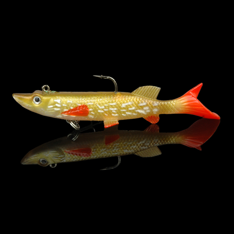 4pcs lot soft bait lead head fish lures pike lure 14g bass for Fish head app