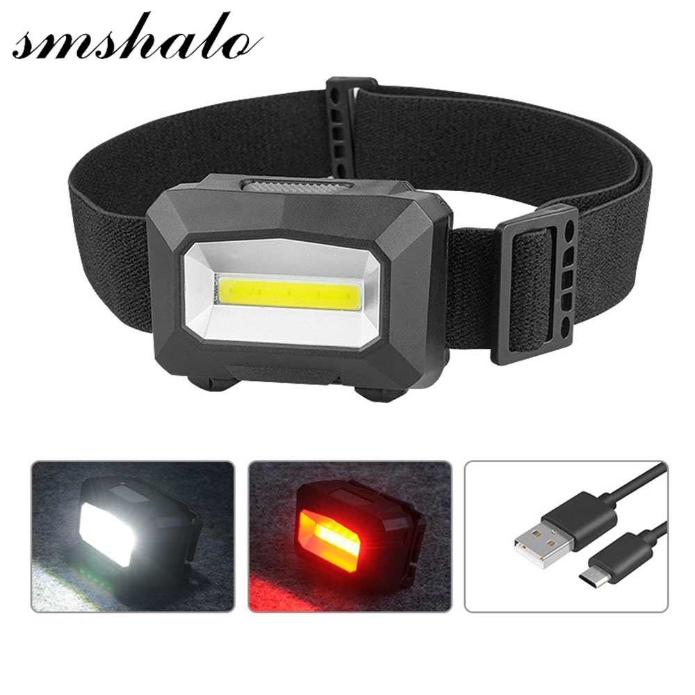USB Lampe Frontale Puissante Rechargeable a Led Light Head Lamp Flashlight Head Torch Linterna Led Cabeza Bicycle Head Light