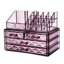 2018New Clear Acrylic Makeup Storage Case Nail Polish Rack Lipstick Cosmetic Storage box Holder Makeup Brush Makeup Organizer(China)