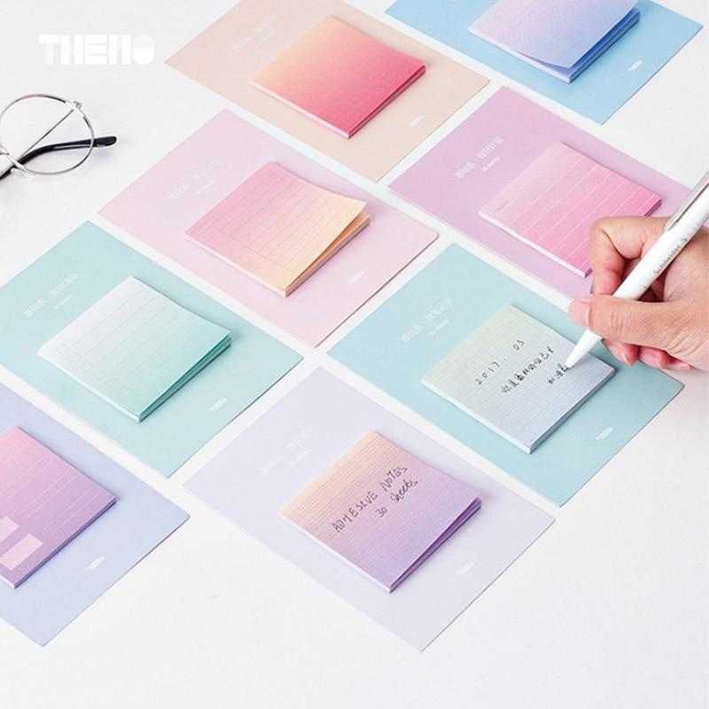 Gradient culori student memo pad planner lipicios notă de hârtie - Blocnotesuri și registre - Fotografie 2