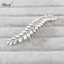 hot deal buy miallo korean bride comb vintage silver plated women  comb rhinestone crystals hair combs bridal wedding hair jewelry
