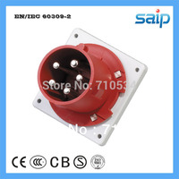 CEE/ IEC International Standard IP44 Wall Panel Mounted Industrial Electrical Plug with 400V, 63A, 5P