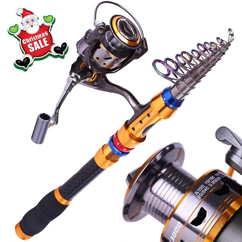 Sougayilang Power 1 8 3 6meters Telescopic Saltwater Fishing Combos