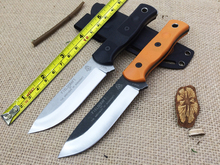 100%New2 Color!TOPS Fieldcraft Brothers of Bushcraft Tactical Fixed Knife,9Cr18Mov Blade G10 Handle Survival Knife,Hunting Knife
