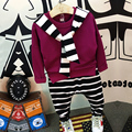 Fashion Autumn Boys Clothing Sets Casual Kids Clothes T-shirt + stripe pants Children Clothing Outerwear Boys Clothes for 2-8 Ys