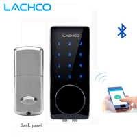 Serrure électronique intelligente de serrure de porte de LACHCO Bluetooth APP, Code, pêne dormant pour la maison, hôtel, appartement L16076BSAP
