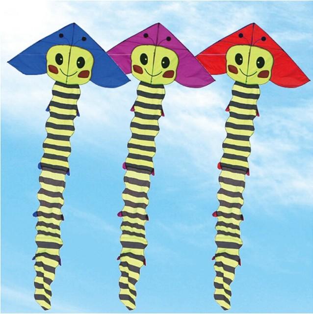 O envio gratuito de alta qualidade grande Lagarta pipa lidar com linha de carretel de pipa grande pipa polvo animal kite surf cerf volant voando